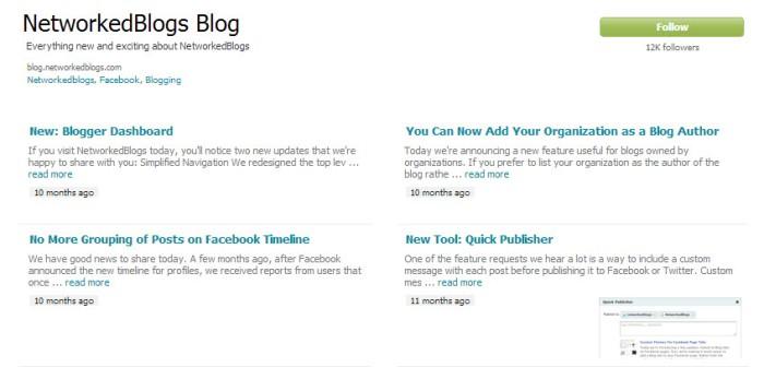 Networked Blogs Facebook Tab App