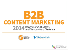 B2B Content Marketing 2014 Benchmarks, Budgets & Trends - North Ame...